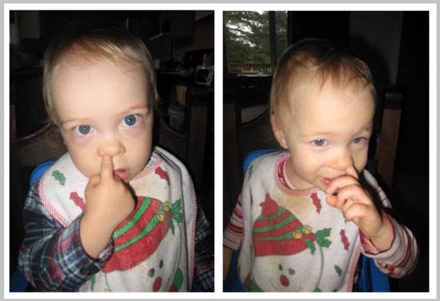 Kids picking their nose