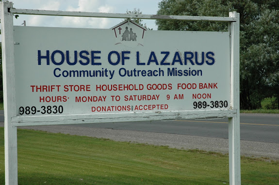 House of Lazarus Food Bank Signage