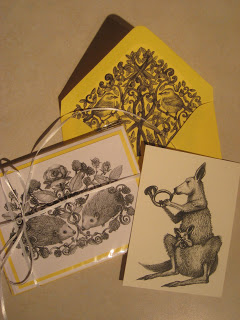 My Hedgehog Etsy Notecards
