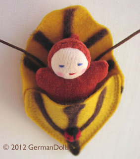 German Dolls Necklace Leaf Buddy for Kids