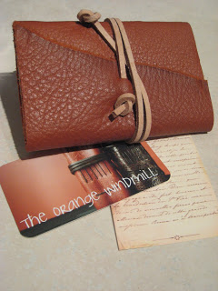 Hand Stitched Leather Journal by the Orange Windmill