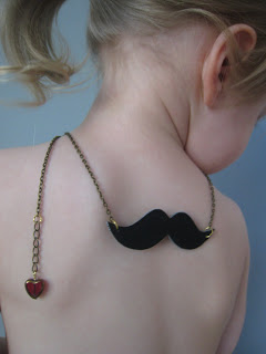 Yummy Pocket Moustache Necklace Etsy