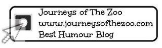 2012 Canadian Blog Awards Journeys of The Zoo Humour Category