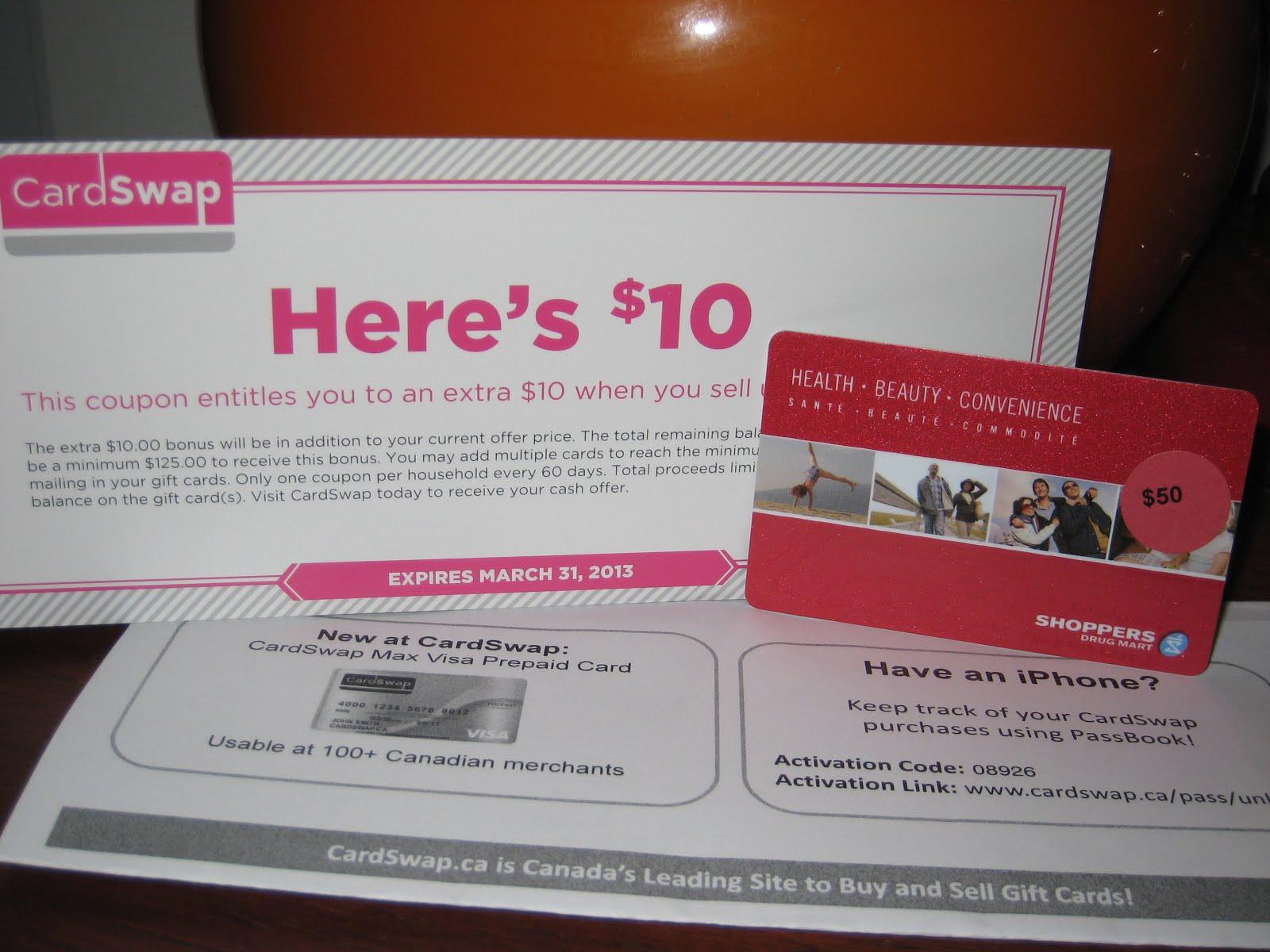 CardSwap Canada Rewards