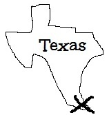 Silhouette of the State of Texas