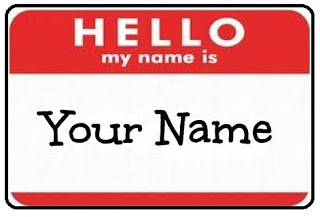 Hello My Name Is Nametag
