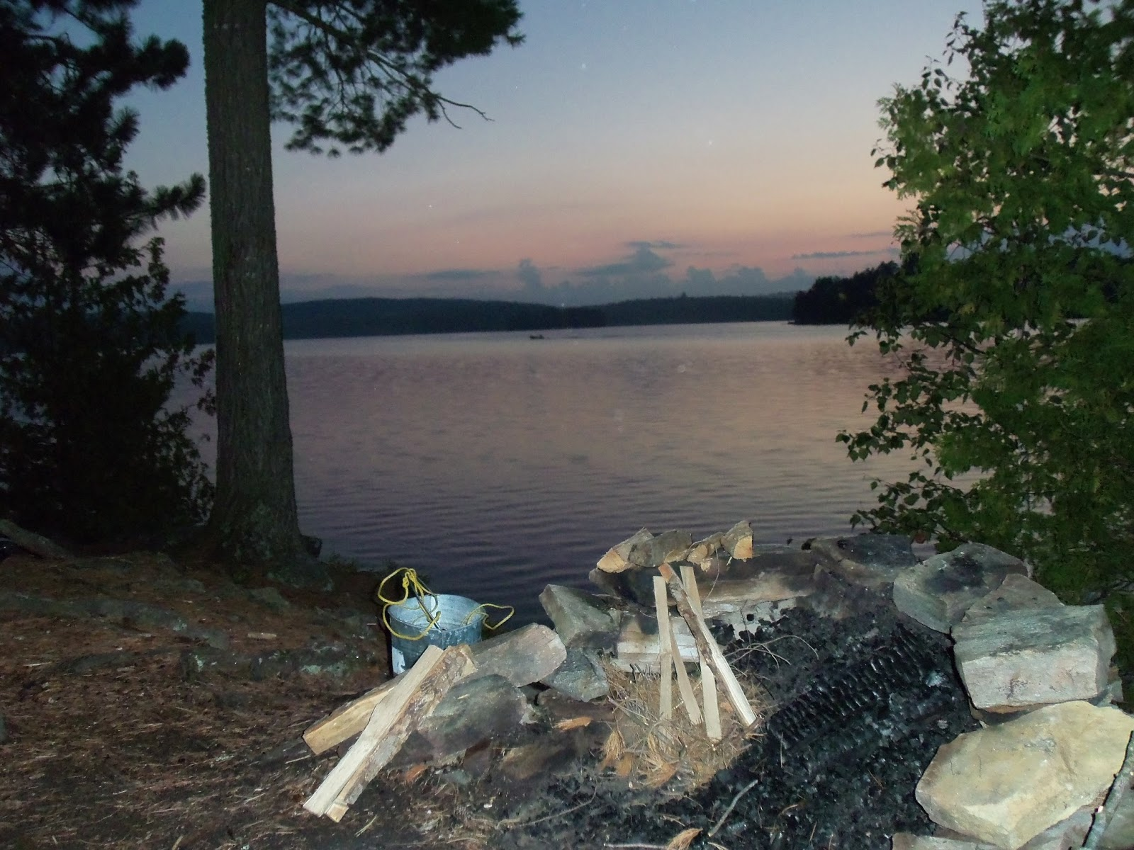 evening summer campfire at the taylor statten camps