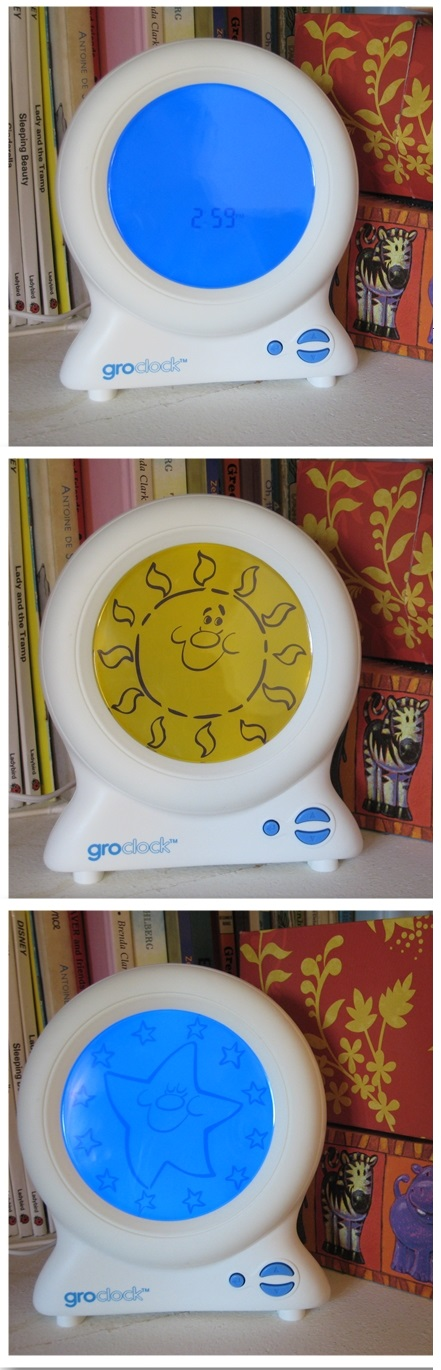 gro clock instructions brightness