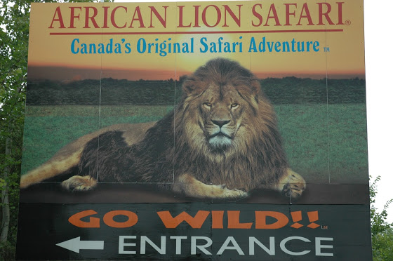 African Lion Safari Entrance Sign