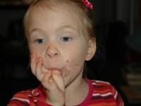 Artemis Licking The Cake Bowl
