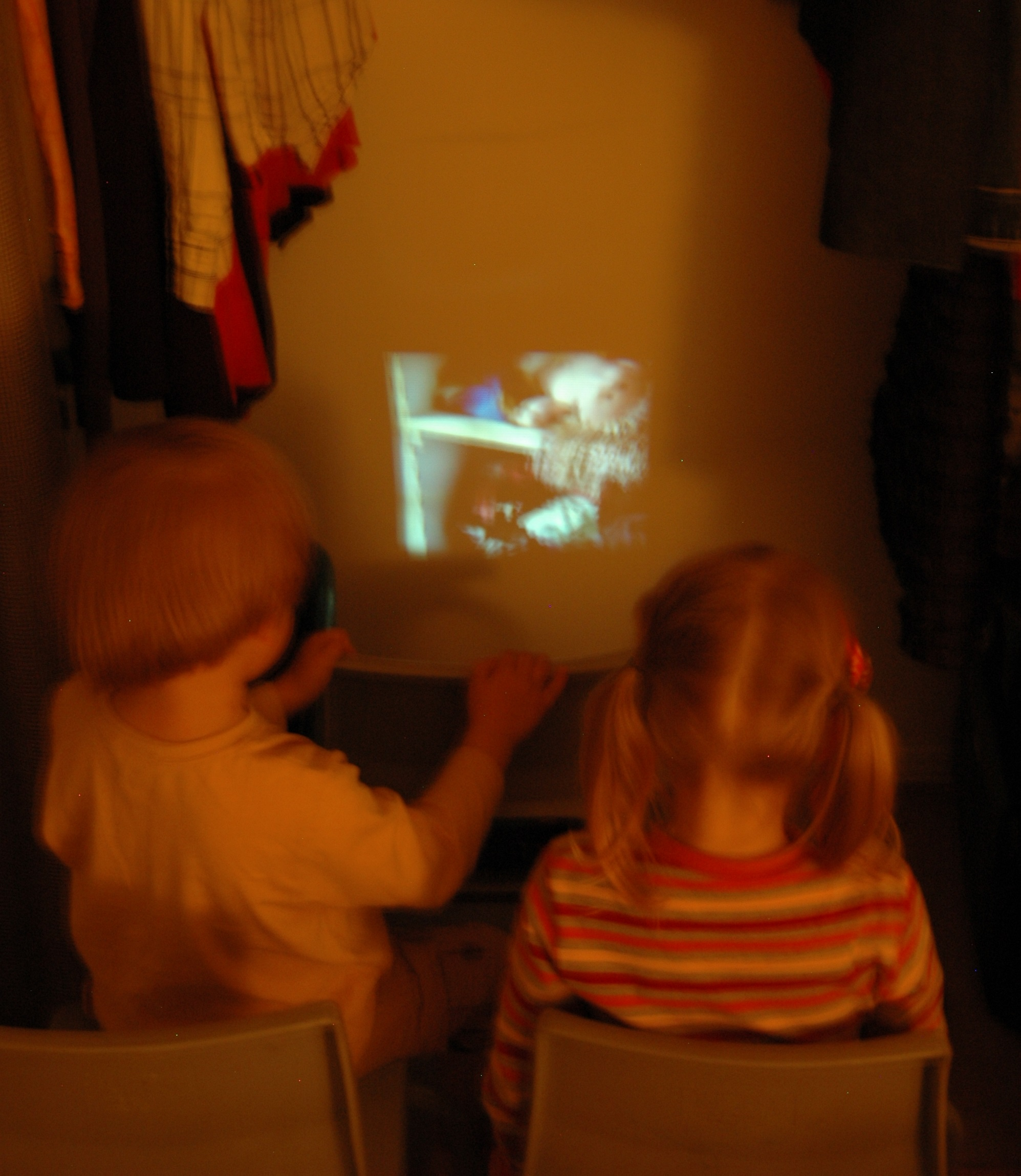 Playskool ShowCam Projection in the Closet
