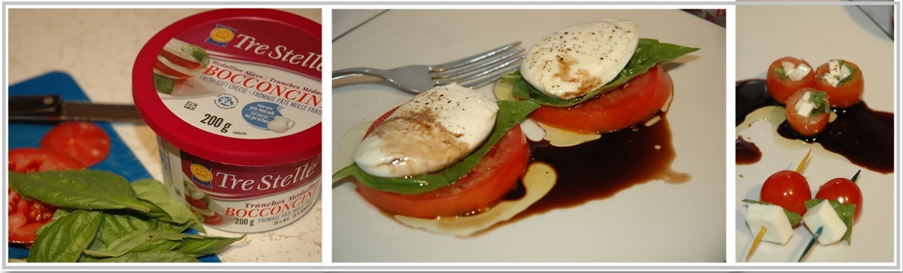 Tre Stelle Bocconcini Cheese Collage