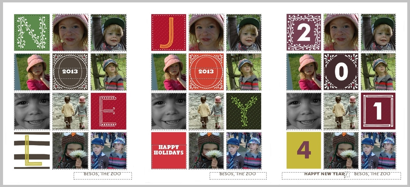 Minted.com Personalized Christmas Card Collage