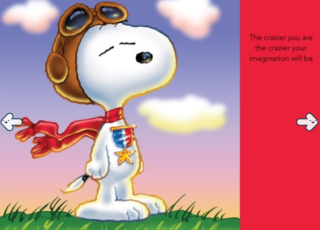 Snoopy iPad App-Favourite Page