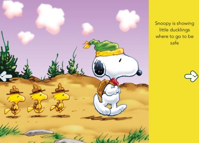 Snoopy iPad App-Nurture Page