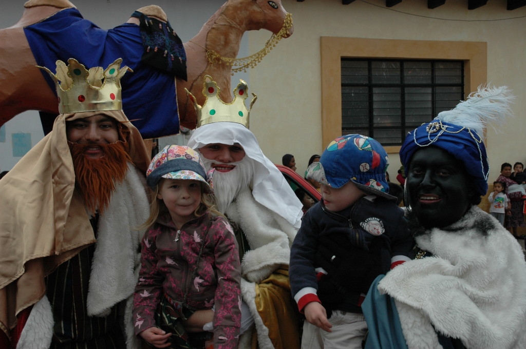 Max and Artemis with The Wise Men Mexico