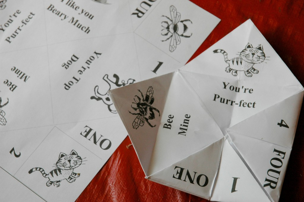 Valentines Day Fortune Teller Kids Craft Instructions