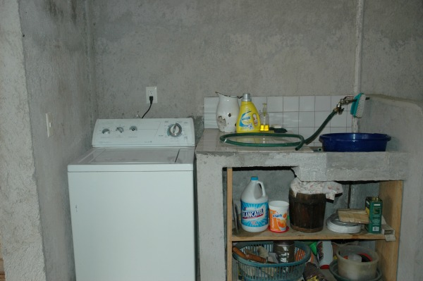 Before my Sunlight Laundry Room Makeover