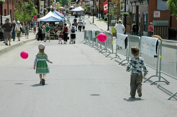 Dandelion Festival-Max and Artemis in the Streets