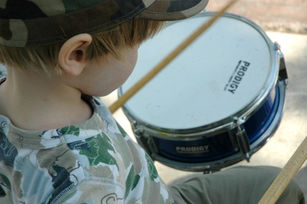 Rock My House Music Centre Max Playing Drums-600