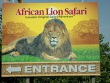 African Lion Safari Sign