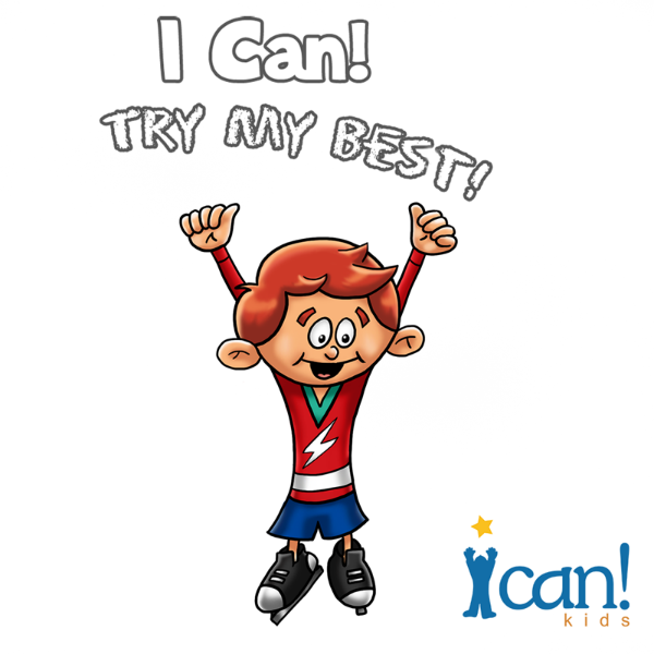 I Can Kids Books Hockey Boy with Slogan Graphic-600