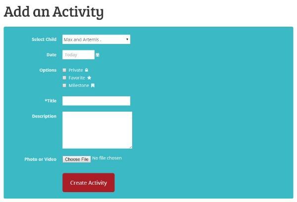 HiMama-Add an Activity