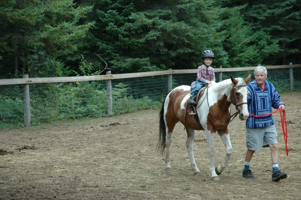 September Camp 2014 - Max Riding a Horse