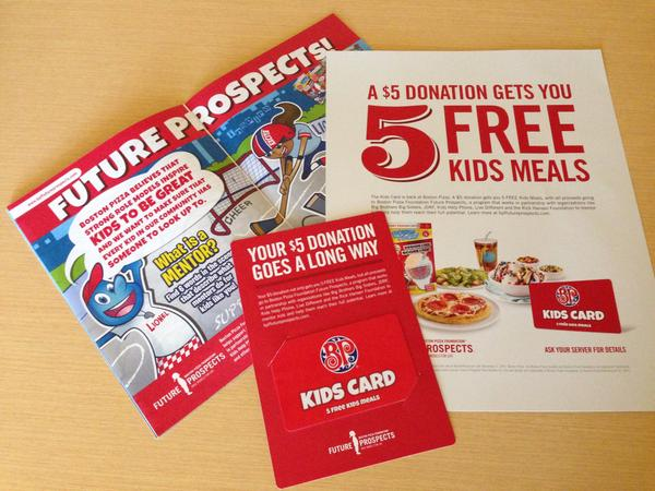 Boston Pizza Foundation Kids Cards