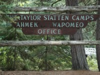 Taylor Statten Camps Sign