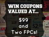 Coupon Giveaway October 2014