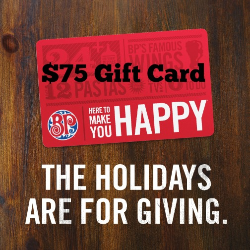 Boston Pizza Festive Menu Gift Card