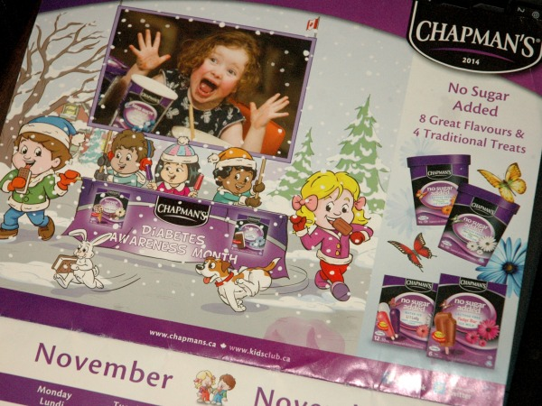 Chapmans Ice Cream Calendar Diabetes Awareness Month