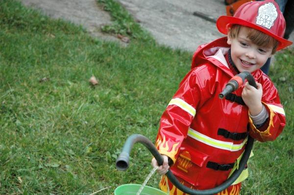 Halloween 2014 Max as a Fireman