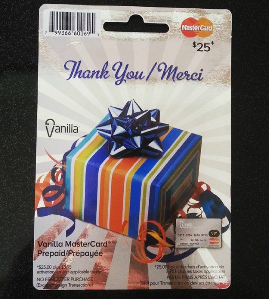 Mastercard Gift Card Giveaway