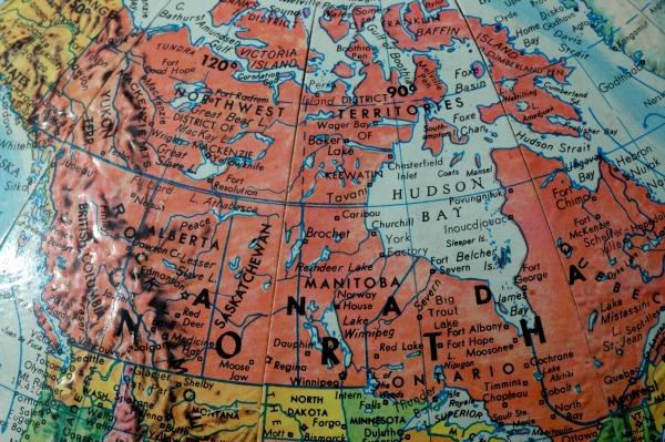 Map of Canada Globe1