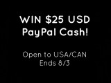 25 usd paypal cash giveaway