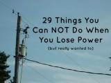 lose power list3
