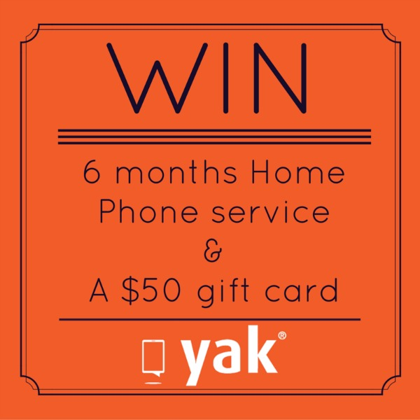 Yak Home Phone Service-Giveaway
