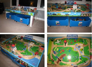 Thomas the Train Table Collage
