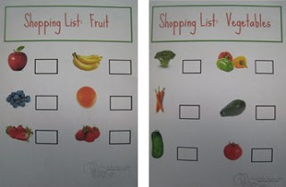 Copy-Kids Fruits and Vegetables Shopping List for Kids