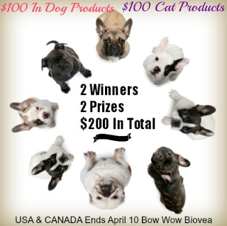 Biovea Dog and Cat Products Giveaway