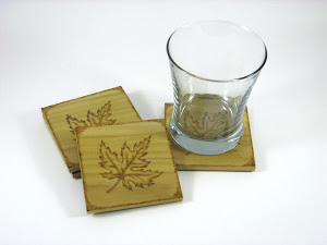 BK Inspired Wooden Coasters
