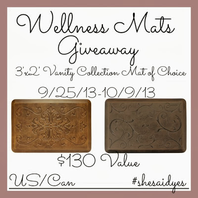Wellness Mat Giveaway SheSaidYes