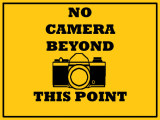 No Camera Sign Stock
