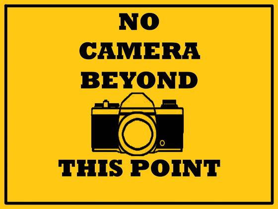 No Camera Sign Stock