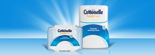 Cottonelle Flushable Cleansing Cloths Stock