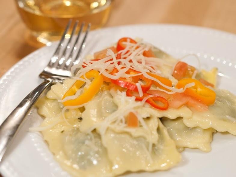 Olivieri Pasta Ravioli Hearts with Brown Butter Sauce #Recipes4Romance