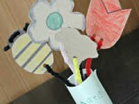 Mothers Day Flower Bouquet Craft for Kids