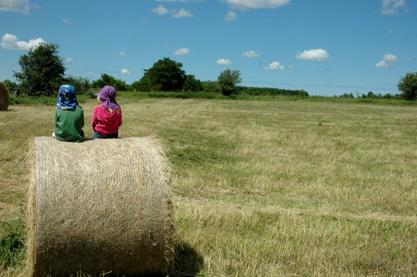The Farm Haybales The Kids